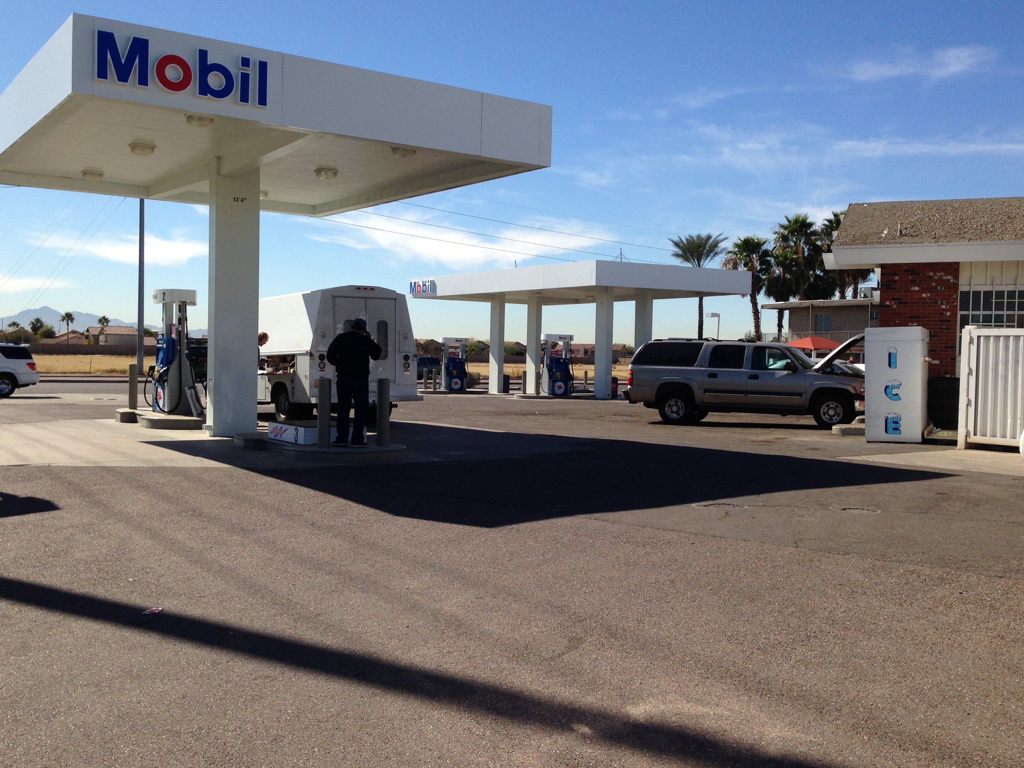 Mobil Gas Canopy