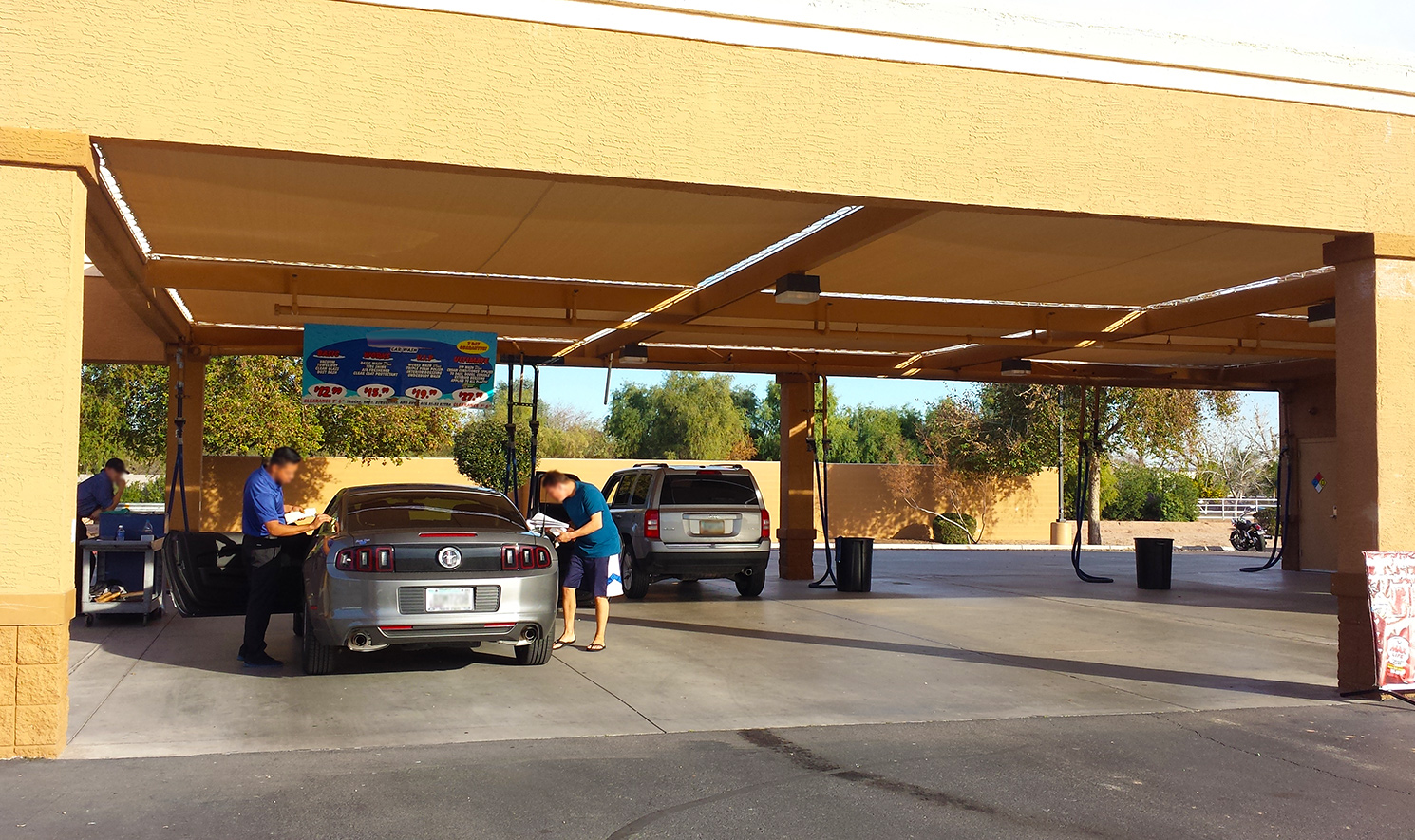 Car Wash Pay Area
