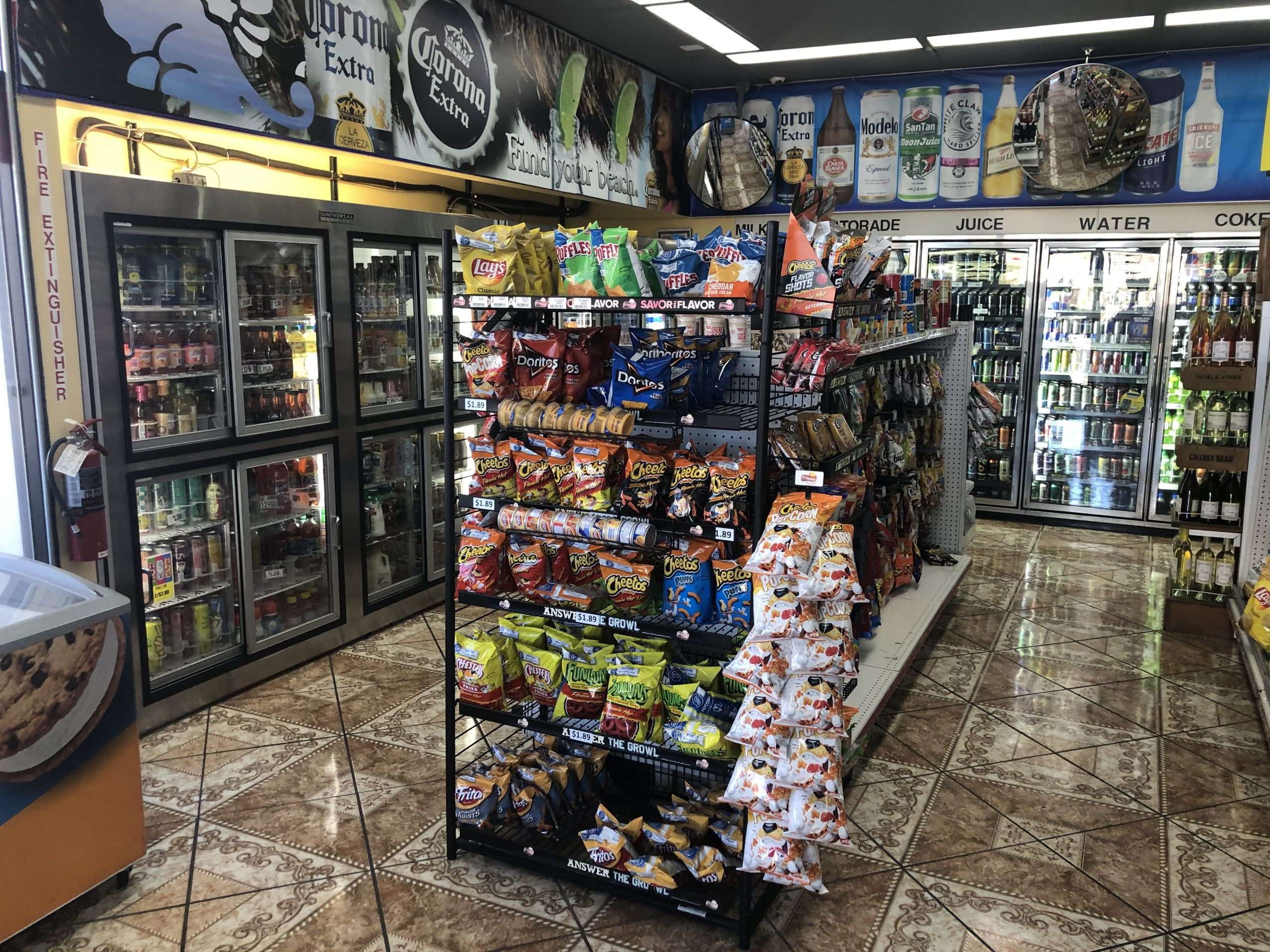 Gas Station Interior Coolers