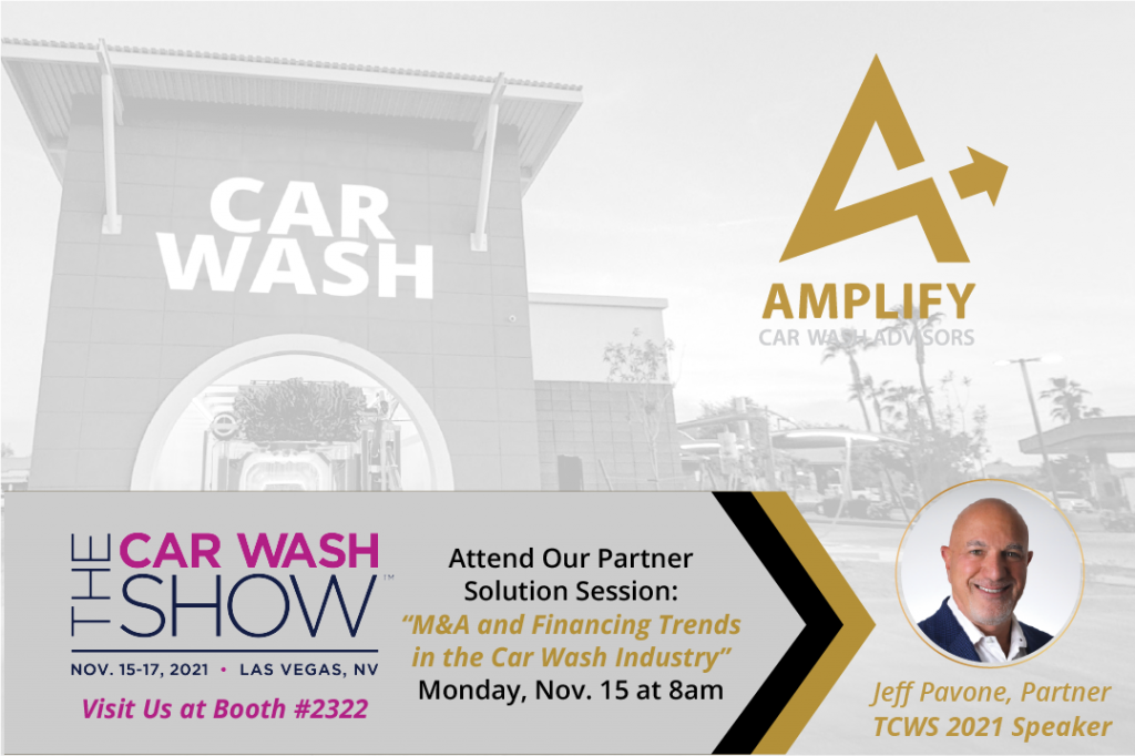 """Attend our partner solution session """"M&A and Financing Trends in the Car Wash industry today."""" at the Car Wash Show"""